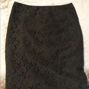 The limited black lace skirt